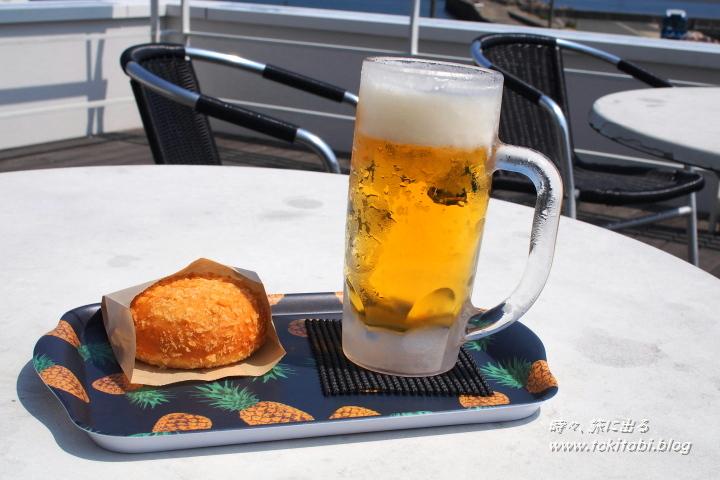 宗像市大島 カレーパンと冷たいお飲み物で一息