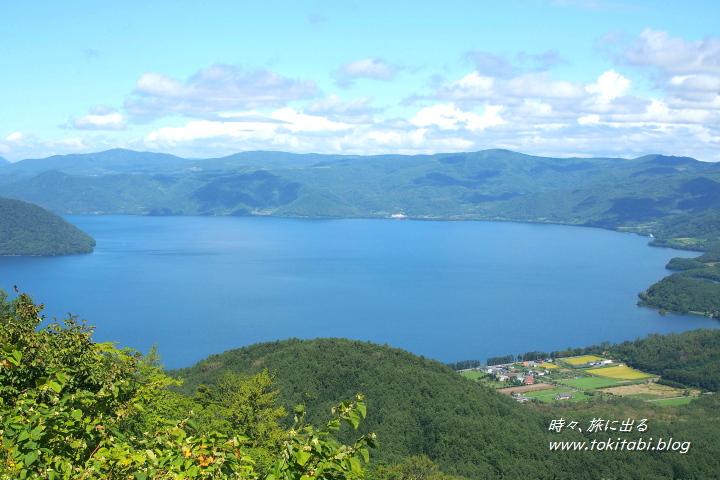 有珠山山頂駅から望む洞爺湖