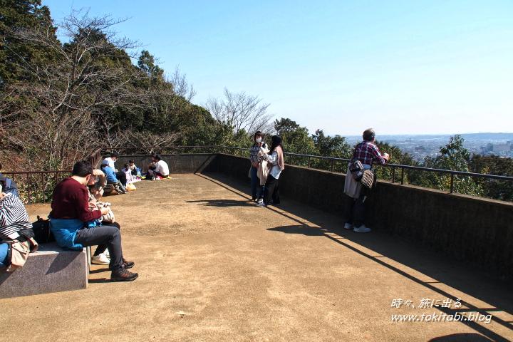 薄っすらと富士山が見えます